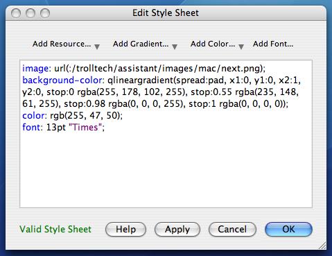 Edit a style sheet