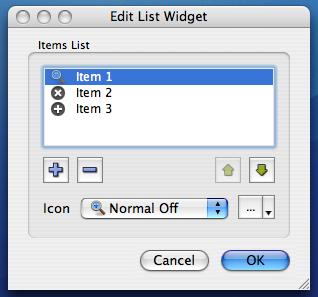 The icon selector widget