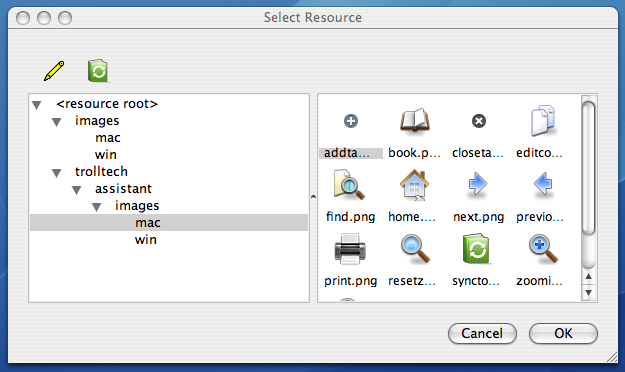 Selecting a resource
